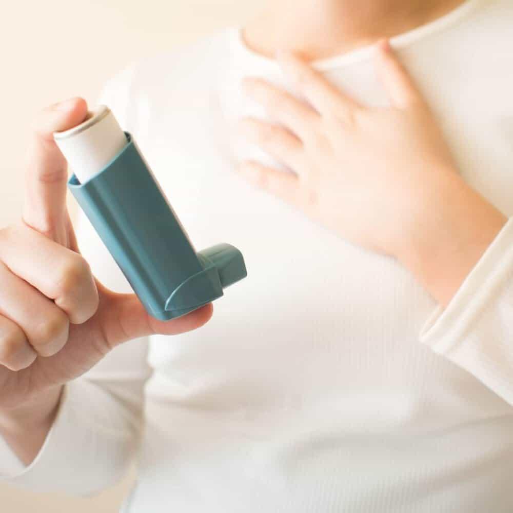 Person With Inhaler