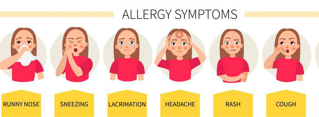 Cartoon of Allergy Symptoms