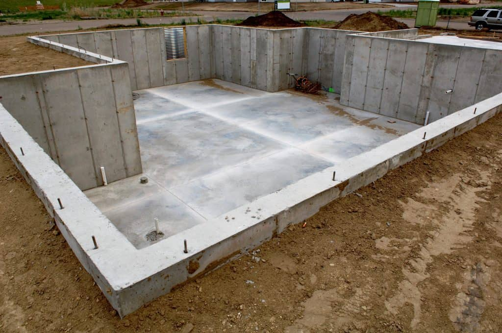 Concrete basement now ready for the lumber